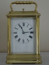 Superb antique French repeater gorge-cased clock by Margaine - overhauled 2021