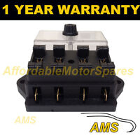 NEW 4 WAY UNIVERSAL STANDARD 12V 12 VOLT ATC BLADE FUSE BOX / COVER CANAL BOAT