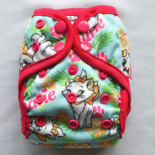1 Cat NEWBORN Cloth Diaper Cover Waterproof Baby Nappy Double Gusset 8-10lbs