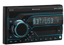 Planet Audio PB455RGB Car Stereo - Double Din, Bluetooth, MP3/USB (No CD/DVD) AM