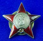 RARE Soviet Russian PRE WW2 Silver Enamel RED STAR Order # 22842 Medal Badge