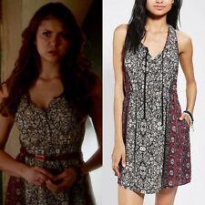 Ecote Tie Neck Tank Dress ASO Elena Gilbert Nina Dobrev The Vampire Diaries