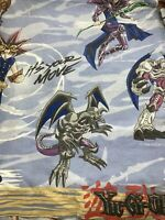 """1996 Yugioh Yu-Gi-Oh Let's Duel Twin Flat Bed Sheet 60""""x95"""" Vintage"""