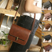 Women Leather Satchel Handbag Shoulder Tote Messenger Ladies Small Crossbody Bag