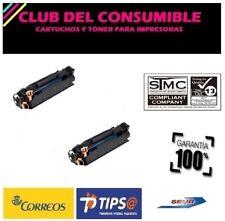 2 X CE285A/CB435A/CB436A NEGRO CARTUCHO TONER UNIVERSAL Nº85A/35A/36A NO OEM HP