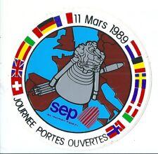 Autocollant sticker SEP Société Européenne de Propulsion 1989 Ariane fusée