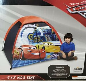 NEW Disney Cars 3 McQueen Kids Play Tent 4ft x 3ft Zippered Door FAST SHIP!