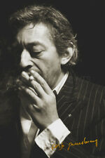 Serge Gainsbourg poster print photo - Pre Signed -12 x 8 inches - Superb quality