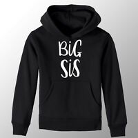 Black & White Big Sister Girls T-Shirt Printed Pregnancy Reveal Party Gift Hoody