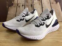 Nike Epic React Flyknit 2 Grey Purple Men's Running  Shoes CK0836 001 Size 12
