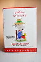Hallmark  Green Thumb Snoopy   Spotlight On Snoopy   2016 Keepsake Ornament