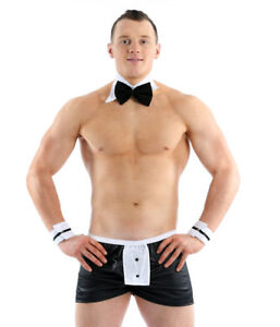 MENS SEXY WAITER BUTLER IN THE BUFF OUTFIT BOXER SHORTS POUCH BRIEF ONE SIZE