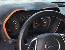 2016-2019 Camaro Orange Carbon Fiber Gauge Bezel Accent Decal kit-Chevy trim kit