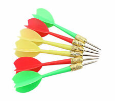 6PCS Plastic Wing Darts Needle Dart Board Tone Steel Brass Throwing Tip 3 Colors