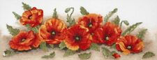 Anchor SPRAY OF POPPIES Counted Cross Stitch Kit, Hard to Find Sealed, MPN 06019