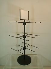Counter Key Chain & Small Item Display Rack - 3 Tier 18 Peg (24