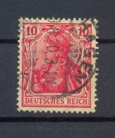 DR 86 II f Germania 10 Pfg dunkelrosarot gestempelt geprüft Dr. Oechsner (or22)