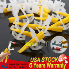 6000/1200/600 Tile Leveling System Clips + Wedges Floor Wall Plastic Spacers Kit