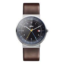 Braun Herren BN0142 klassisch dual time Uhr mit Lederband BKBRG, 66558, Neu+OVP