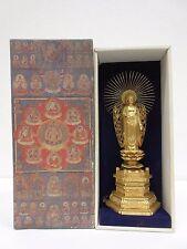 Japan religious  Jodo Shinshu  Alloy statue of Buddha Amitabha 23.5cm!