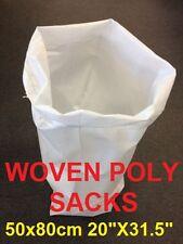 "500 Woven Polypropylene Sacks Strong Builder Rubble sand Bag 50x80cm 20X31.5"""