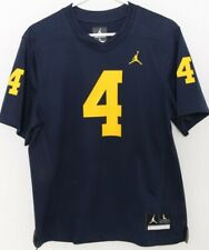 NEW Michigan Wolverines 4 Navy Nike Team Jordan Football Jersey Youth L