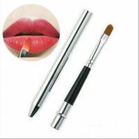 Women Makeup Portable Lip Brush Retractable Lipstick Brush Cosmetic Tool UK