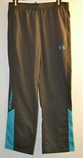 Under Armour, Youth XL, All Season Gear, Pants, Gray/Turquoise