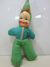 Vintage Plastic Face -Stuffed Carnival Give-Away Doll