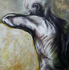 """Lysiane D. COSTE acrylique sur toile 80/80 cm série """"Cicatrices"""""""
