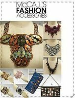 McCalls Sewing Pattern 5943 Jewellery Accessories Cuffs Necklaces One Size