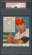 1952 Red Man Tobacco #7 Granny Hamner PSA 8 Philadelphia Phillies