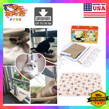 ORIGINAL Cat Mounted Hammock Bed Window Basking Pet Puppy Kitten Seat High - USA