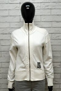 G-Star Donna Taglia M Maglione Felpa Pullover Sweater Woman Cardigan Bianco