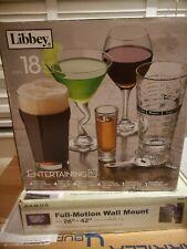 Libbey Glass 18pc Entertainment Bar Set - Beer, Martini, Wine, Shot Glasses