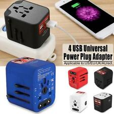 Universal Travel AC Power Charger Adapter Plug Converter 4 USB Port AU UK US EU