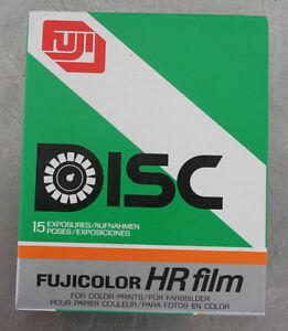 (35) NOS VINTAGE FUJI FUJICOLOR HR DISC CAMERA FILM 15 EXPOSURES SEALED LOT