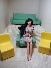 Barbie's 1973 Retro Furniture lot of Four Green & Yellow