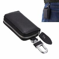 1pc Universal Car PU Leather Smart Remote Key Chain Holder Fob Bag Case Cover