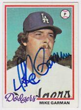 1978 TOPPS MIKE GARMAN AUTO AUTOGRAPH SIGNED CARD #417 JSA