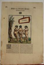 ITALY THE SYBILS 1575 BELLEFOREST ANTIQUE ORIGINAL WOODCUT PLATE FRENCH EDITION