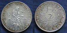 MONETA COIN AUSTRIA REPUBLIK ÖSTERREICH 2 SCHILLING 1930 ARGENTO SILVER SILBER 3