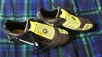 Nike Total 90 T90 Laser II Black & Yellow Football Boots 2008 Size UK 8 EU 42.5