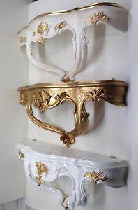 Console Muro Antico Barocco 45x21 Specchio Mensola Riva Fiori Decorazione