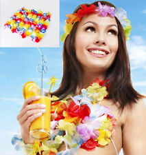 10pcs LUAU HAWAIIAN HAWAII BEACH PARTY SUPPLIES 1 FLOWER NECK LEI NECKLACE