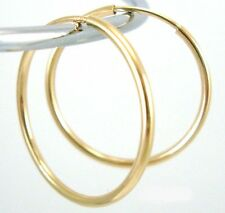 14k yellow Gold Filled Earring Endless hoop Earwire tube Ear Wire 50mm Ge21
