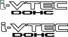 "2X HONDA I-VTEC DOHC 9"" X 2"" VINYL DECAL DECALS STICKER STICKERS BLACK"