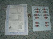 Microscale  decals HO 87-671 CP Rail Intermodel 48' cont. tractors 1991 D145