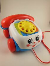 Fisher Price Toy Phone  Pull Toy With Wheels Mattel 2000