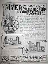 1924 Myers Self Oiling Electric Pump & Direct Water Systems Advertisement